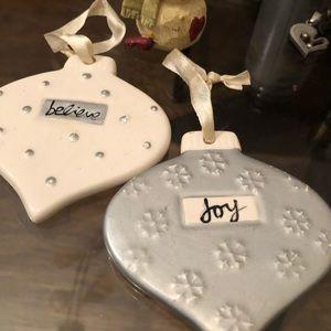 3 Very pretty Christmas Ornaments